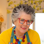 Headshot of Prue Leith smiling